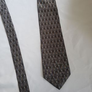 Vintage Savile Row 100% neutral color silk tie